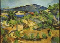 Картина Сезанна Горы во французском Провансе.