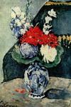 Натюрморт с дельфтской вазой с цветами.