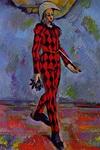 Картина Сезанна Арлекин.