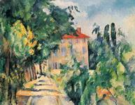 Картина Поля Сезанна Дом с красной крышей.