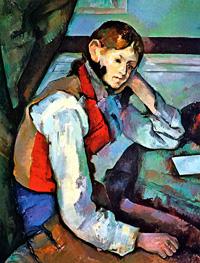 Мальчик в красном жилете (Сезанн, ок. 1890 г.)