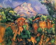 Гора св. Виктории со стороны каменоломни Бибемюс.