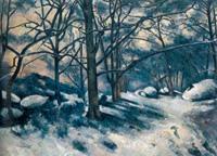 Тающий снег в лесу Фонтенбло (Поль Сезанн, 1879-1880 г.)