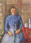 Поль Сезанн. Портрет. Женщина с кофейником.