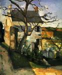 Картина Сезанна Дом и дерево.
