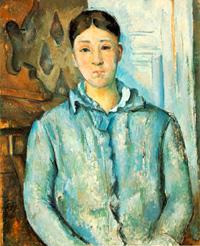 Мадам Сезанн в голубом (Поль Сезанн, 1886 г.)