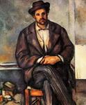 Картина Поля Сезанна Сидящий крестьянин.