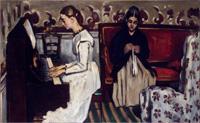 Девушка у пианино (Поль Сезанн, около 1868 г.)