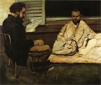 Поль Алексис читает Эмилю Золя (Поль Сезанн, 1861-1870 г.)