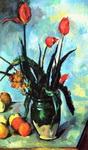 Натюрморт с тюльпанами в вазе.