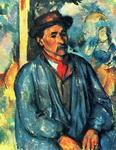 Сезанн. Портрет. Крестьянин в голубой блузе.