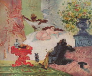 Картина Поля Сезанна Олимпия.