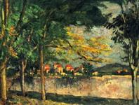 Картина Поля Сезанна Улица (Стена).