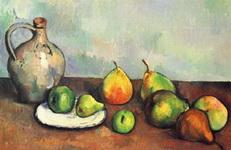 Натюрморт с кувшином и фруктами.