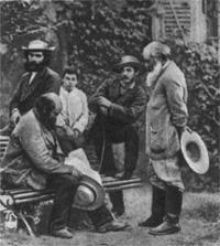 Поль Сезанн и Камиль Писсарро в Понтуазе (1877 г.)