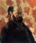 Портрет Поля Сезанна Автопортрет на розовом фоне.