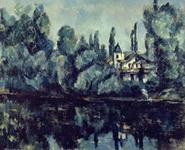Поль Сезанн. Картина На берегу Марны.