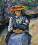 Картина Сезанна Девочка с куклой.