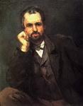 Картина Поля Сезанна Мужской портрет.