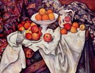 Натюрморт с яблоками и апельсинами.