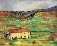 Картина Сезанна Окрестности Гарданны.