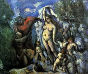 Картина Сезанна Искушение св. Антония.