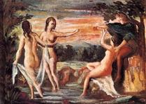 Картина Сезанна Приговор Париса.