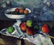 Натюрморт с блюдом для фруктов.