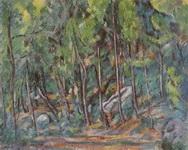 Поль Сезанн. Живопись В лесу Фонтенбло.
