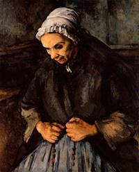 Старуха с четками (Поль Сезанн, 1895-1900 г.)