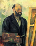 Портрет Поля Сезанна Автопортрет с палитрой.