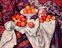 Натюрморт с яблоками и апельсинами (Поль Сезанн, около 1900 г.)