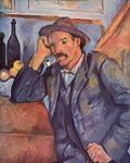 Поль Сезанн. Портрет. Мужчина с трубкой.