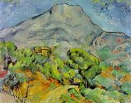 Поль Сезанн. Картина Дорога у горы св. Виктории.