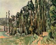Картина Сезанна Тополя.