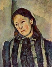 Портрет мадам Сезанн (Поль Сезанн, 1883-1887 г.)