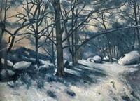 Тающий снег в лесу Фонтенбло (П. Сезанн)