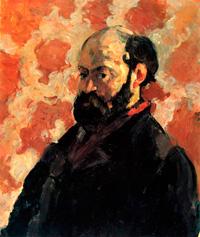 Автопортрет на розовом фоне (Поль Сезанн, 1875 г.)