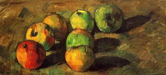 Натюрморт с семью яблоками.