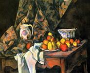 Натюрморт с яблоками и персиками.