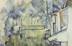 Картина Поля Сезанна Мельница на реке.