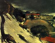 Картина Поля Сезанна Тающий снег в Эстаке.