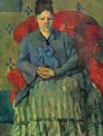 Поль Сезанн. Мадам Сезанн в красном кресле.