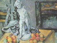 Картина Поля Сезанна Натюрморт со статуэткой.
