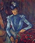 Поль Сезанн. Портрет. Дама в голубом.
