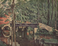 Поль Сезанн. Живопись Лесной мостик.