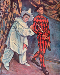 Пьеро и Арлекин (Поль Сезанн, 1888 г.)