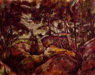 Скалы в лесу Фонтенбло.
