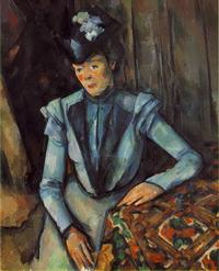 Сидящая женщина в голубом (П. Сезанн)